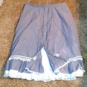 Vtg Rockmart Tru-West Ranch Wear Prairie Skirt